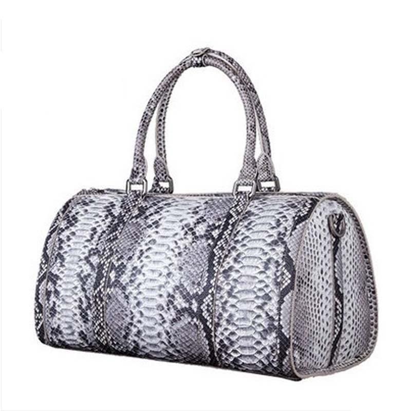 pugete  new arrival Python skin Male big bag handbag Travel bag men luggage Big men boston bag