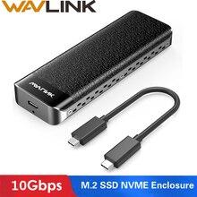 Wavlink USB-C M.2 NVMe корпус до 10 Гбит/с USB 3,1 Gen 2 SSD чехол m-ключ NVMe разъем Тип-C для 2230/2242/2260/2280 мм SSD жесткий диск