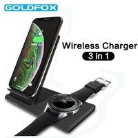 3 в 1 Беспроводное зарядное устройство мобильный телефон беспроводной зарядки для Samsung Galaxy Watch 42 мм/46 мм шестерни S2 S3 S4 Спорт Airpods S10 S9 S8