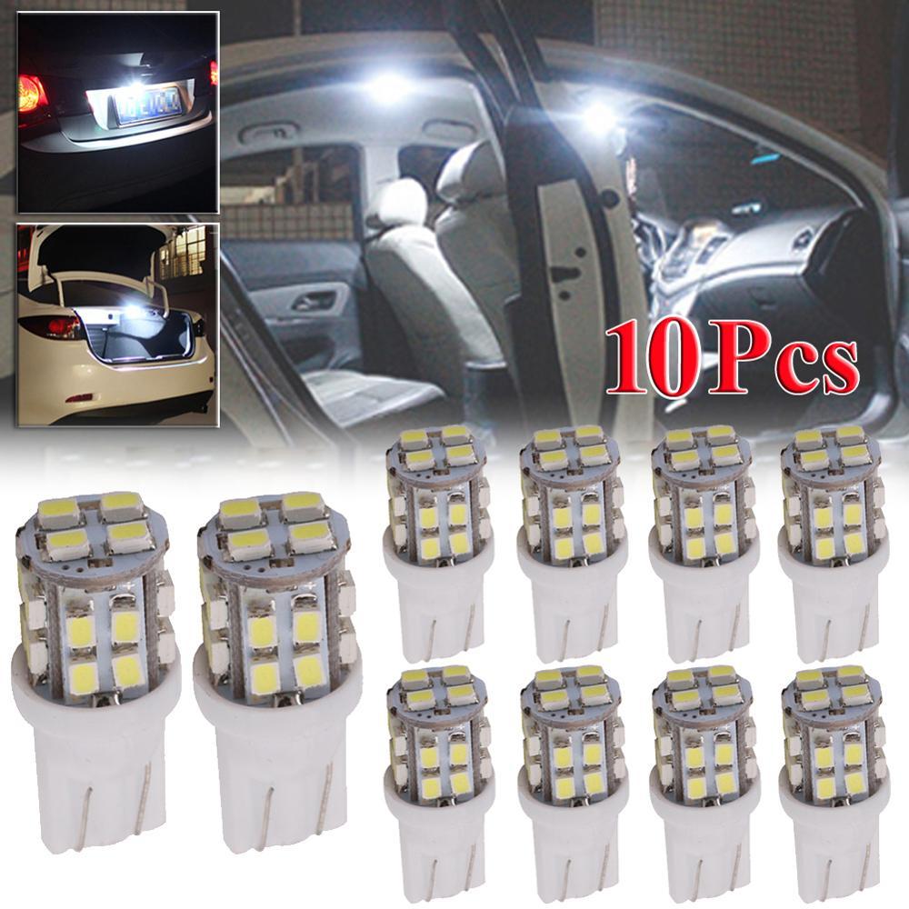 10PCS T10 20-SMD LED Bulb Super Bright Car Show Clearance Light White Signal Lamp