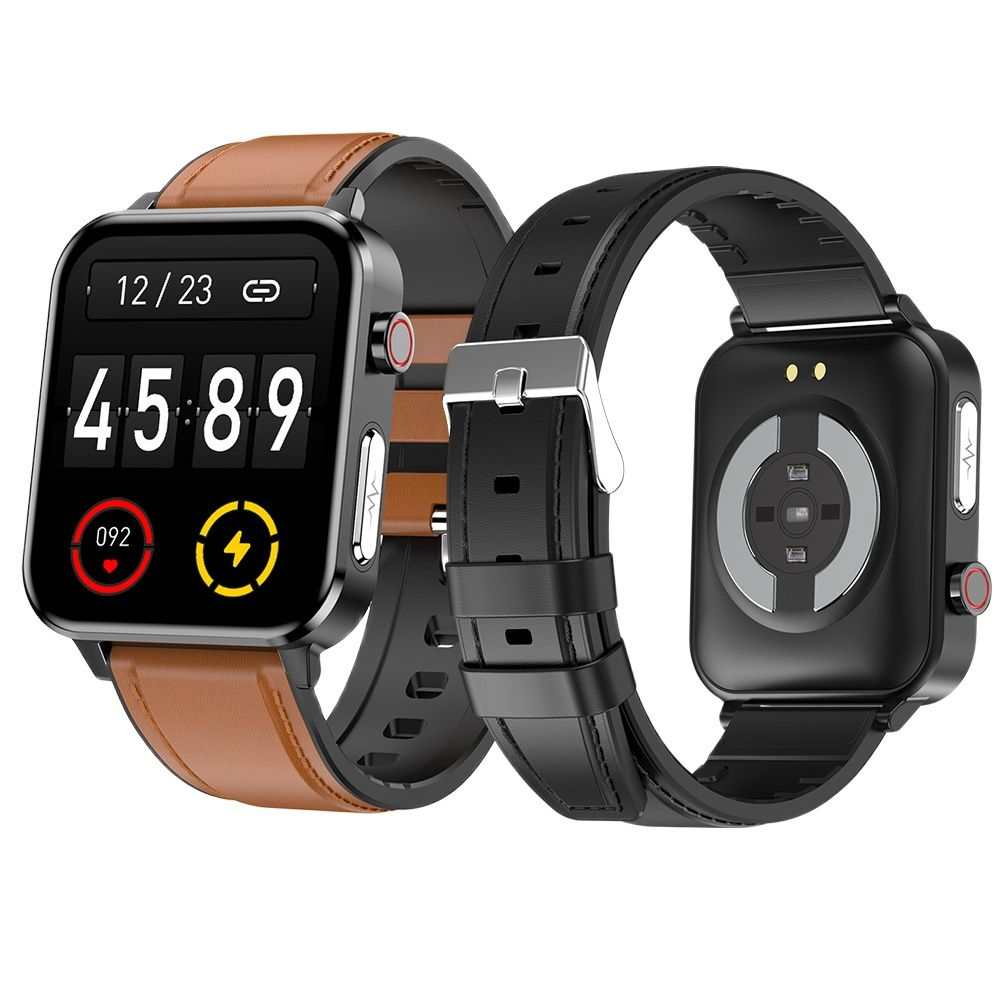 Ti رقاقة IP68 مقاوم للماء ساعة ذكية الرجال ECG درجة الحرارة الفرقة المهنية SpO2 الدم الأكسجين PPG الصحة Smartwatch النساء ل iOS