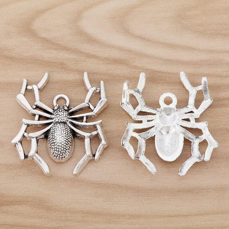 10 Pieces Spider Charms Pendants for Necklace Bracelet Jewellery Making Accessories