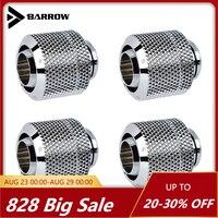 8 шт., тонкий фитинг для шланга Barrow 3/8 дюйма, используется для труб 9,5*12,7 мм/9,5*16 мм, золотой, белый, черный, ручной затяжки, мягкий соединитель дл...
