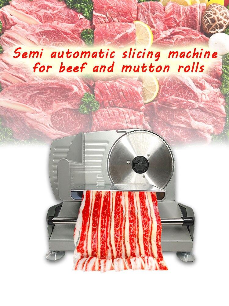 220V/110 Electric Slicer Household Lamb slice meat Slices of bread Hot Pot Desktop Meat cutting machine Резак для мяса