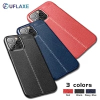 uflaxe soft silicone shockproof case for apple iphone 13 pro max mini litchi texture ultra thin cover