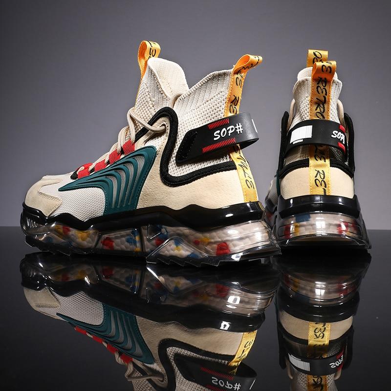 حذاء رياضي كلاسيكي للرجال ، حذاء جري مسامي ، حذاء رياضي شبكي عالي الجودة ، للمشي والركض ، نمط جرافيتي ، مناسب لفصل الربيع ، مقاس 46