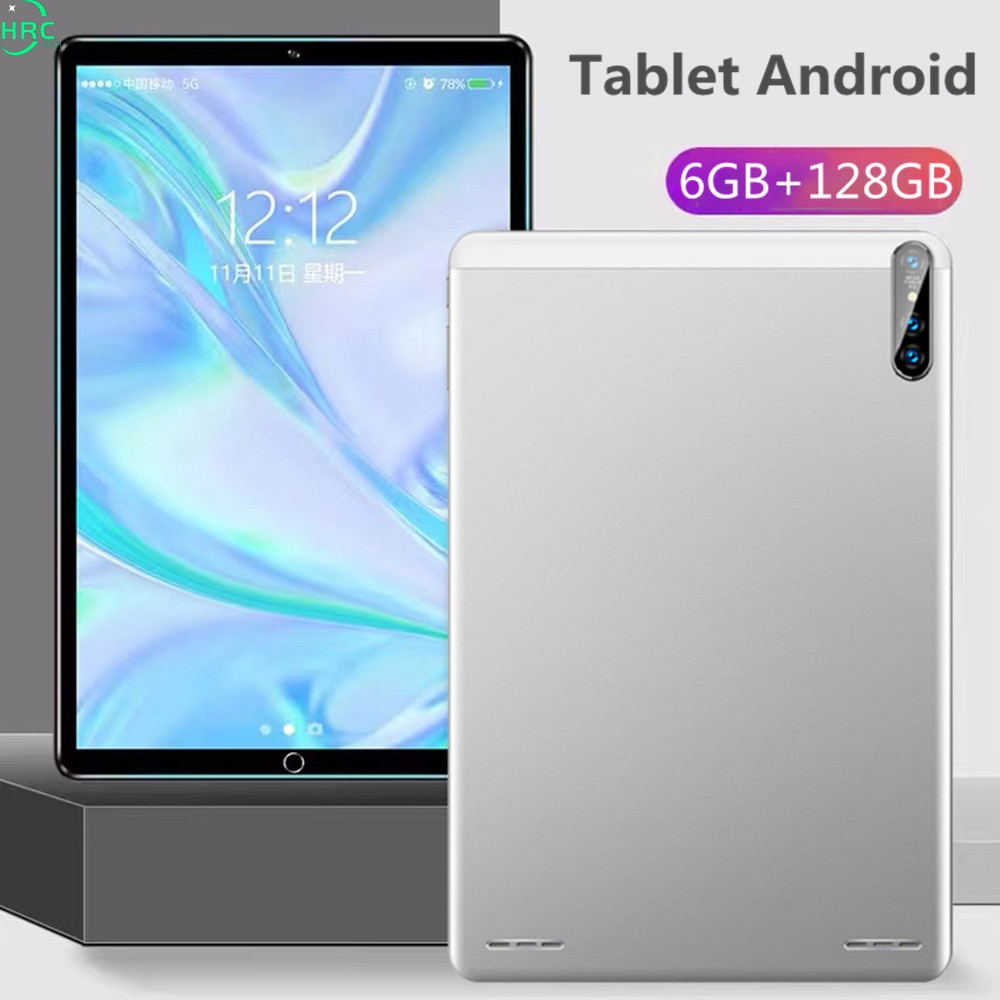 2021 Tablet Android 10.0 Tablet PC 6GB RAM 128GB ROM TEBLET 10 Core 10 inch 24.0MP WIFI 4G Network T