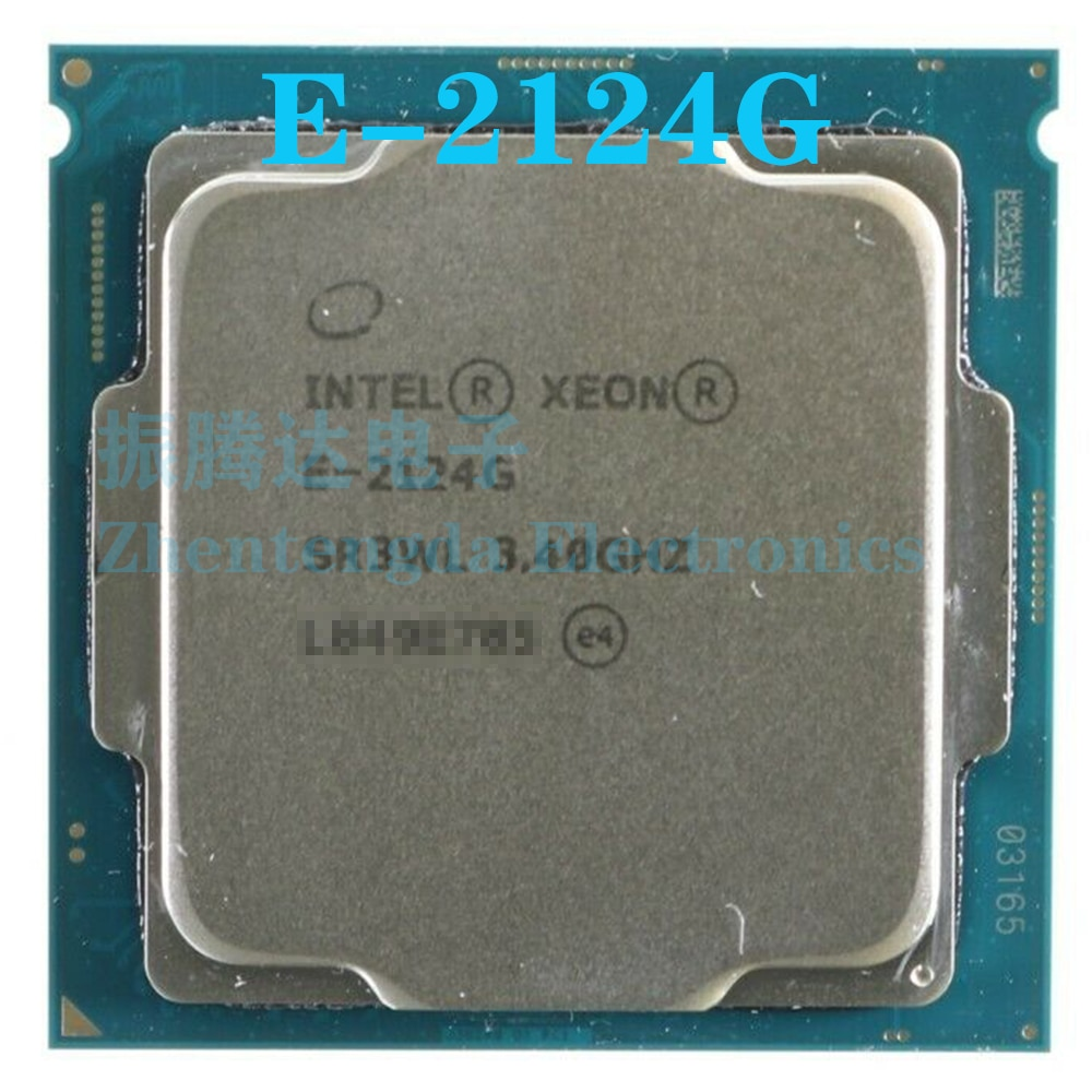 Intel Xeon E-2124G CPU 3.4GHz 8MB 4 Core 4 Thread LGA 1151 E-2124G CPU Processor
