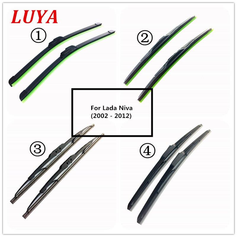"""LUYA cuatro tipos de limpiaparabrisas de coche para Lada Niva (2002-2012) Tamaño 20 & 20"""""""