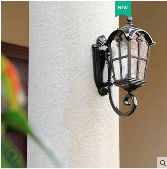 American outdoor corridor aisle waterproof villa garden creative simple outdoor gate courtyard balcony home wall lamp enlarge