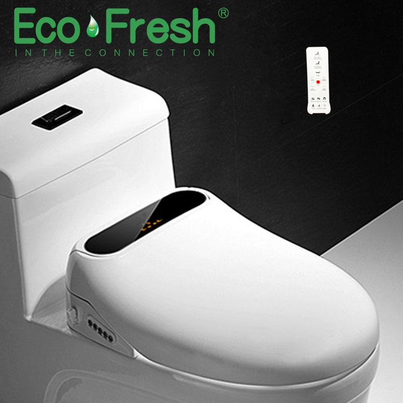 EcoFresh-مقعد مرحاض كهربائي ذكي للأطفال والنساء ، بيديه ، مع التنظيف والتجفيف والتدليك