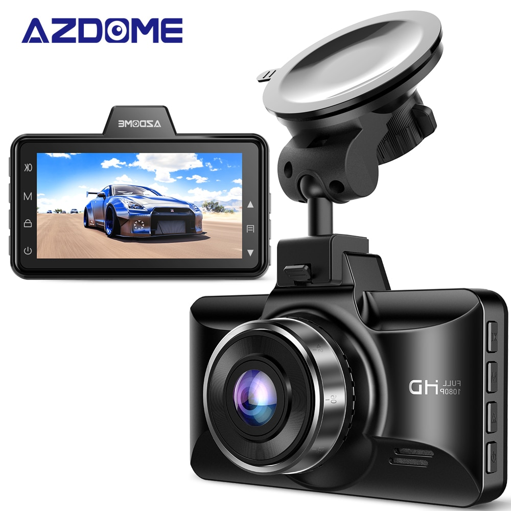 Автомобильный видеорегистратор AZDOME 1080P FHD Dash Cam 3 дюйма IPS экран видеорегистраторы ночного видения, монитор для парковки, g-сенсор, циклическа...