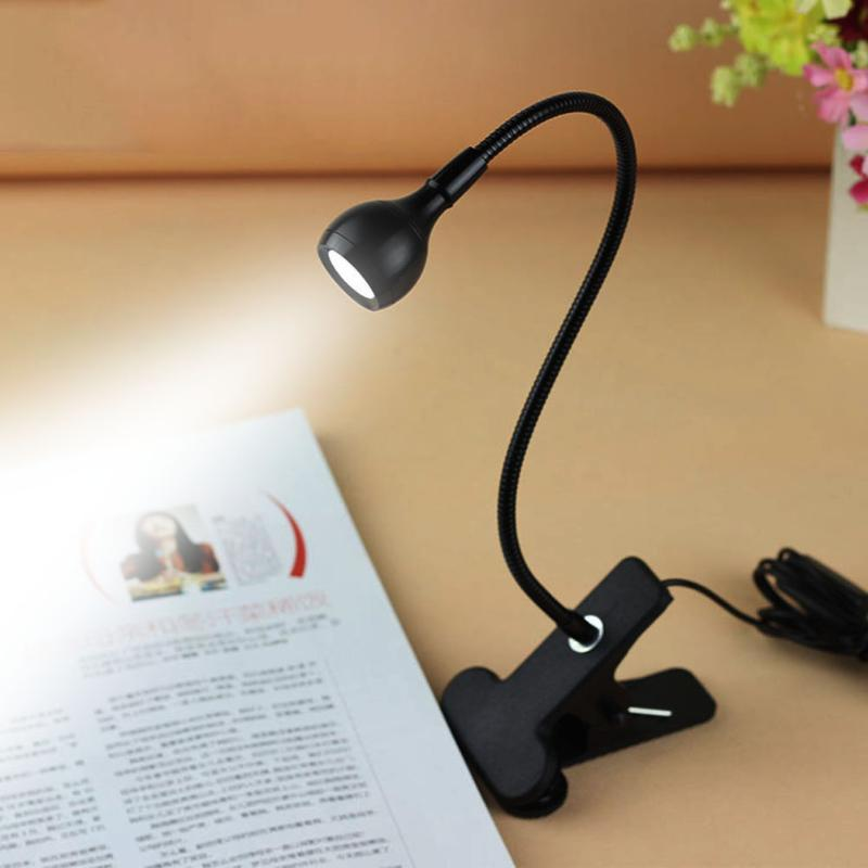 Soporte Flexible USB para Luz de Lectura LED, lámpara de mesa de dormitorio para estudiantes, suministros de iluminación para el hogar, lámpara de mesa de escritorio de computadora