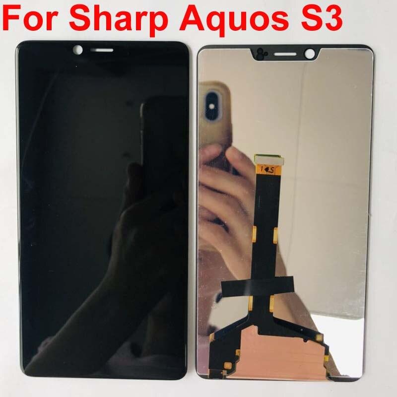 6,0 pulgadas para Sharp Aquos S3 S3 alto FS8032 2160x1080 pantalla LCD y digitalizador de pantalla táctil ensamblar original LCD de repuesto FS8015