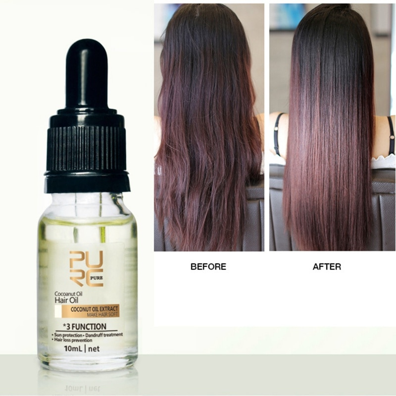 El aceite de coco Reduce la pérdida de proteínas beneficiosas para la salud del cabello proporciona la alimentación del cabello previene la pérdida de cabello tratamiento