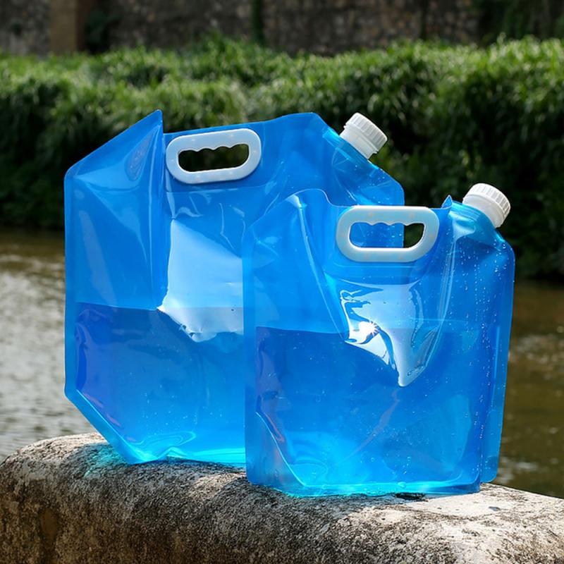 Drinking Water Bag 5L/10L Outdoor Foldable Folding Collapsible Water Bags Container Camping Hiking P