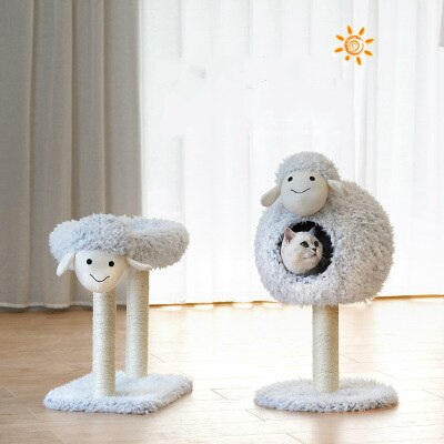 Lamb Cat House Cat Bed Cat Climbing Frame Cat House Cat Tree Cat Toy Cat Scratching Post Pet Products