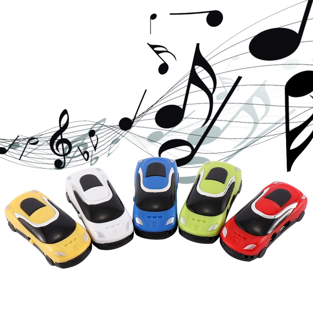 Overmal mini estilo do carro mp3 usb digital interessante mp3 music player suporte 32 gb micro sd tf bonito design melhor presente de natal