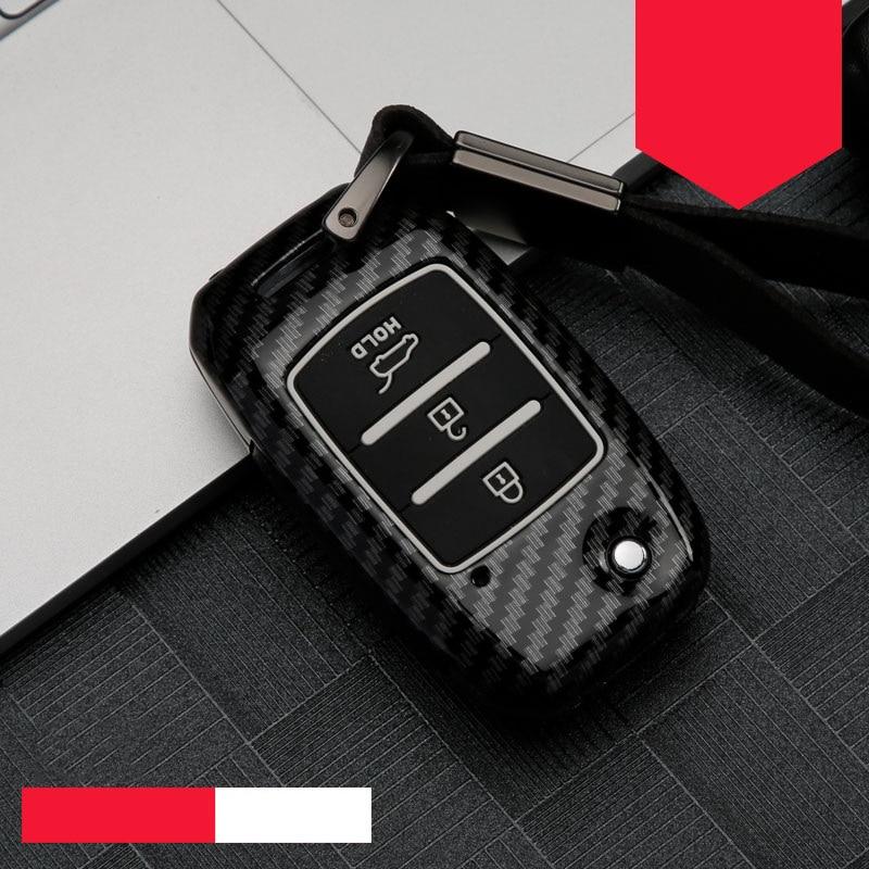 Moda liga de zinco + sílica gel capa completa caso chave do carro para kia ceed rio sportage r k3 k4 k5 ceed sorento cerato optima 2015-2018