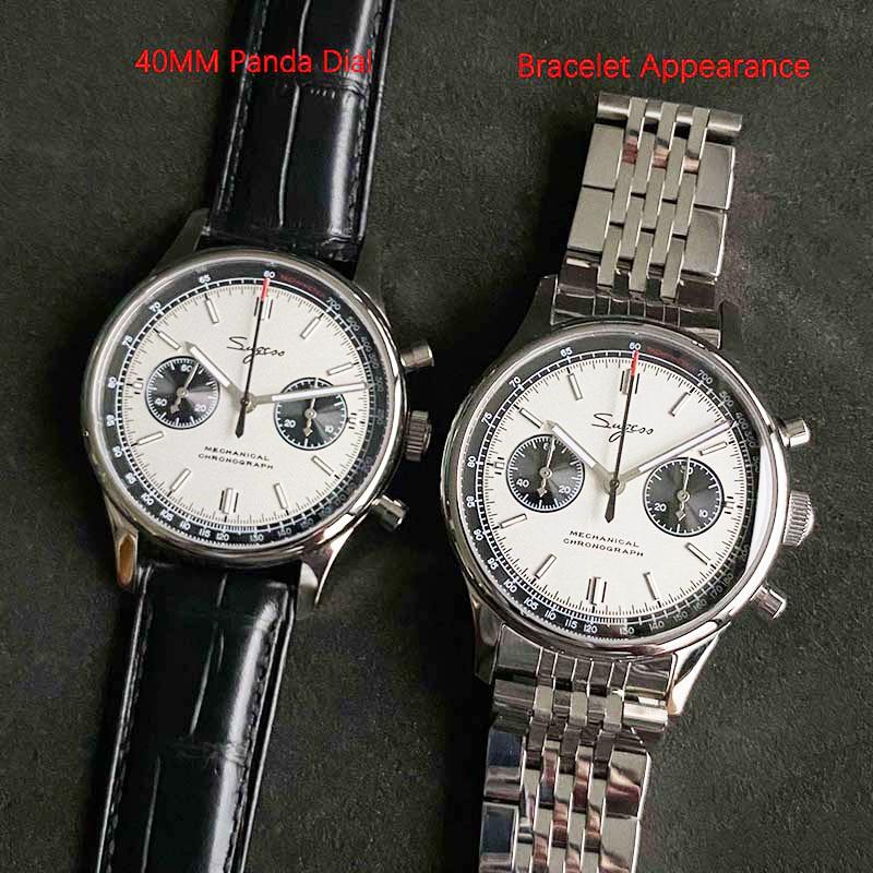 Panda 1963 Pilot Chronograph Mechanical 40mm Sapphire Watches Mens 2020 Seagull Movement st1901Milit