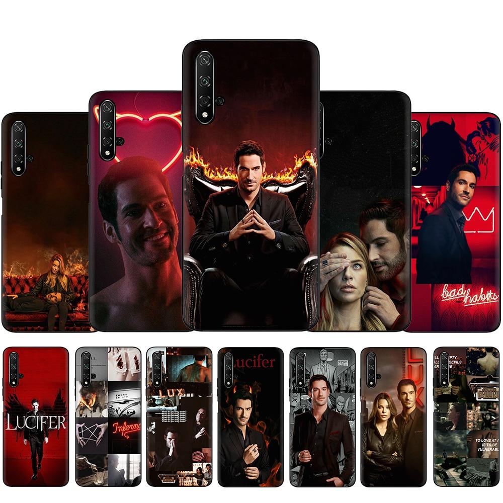 Americano TV Lucifer de la caja del teléfono de silicona para Huawei Honor 6A 7X 8X 8C 8A 8 9 10 Lite V20 V30 20 9X Pro 20S
