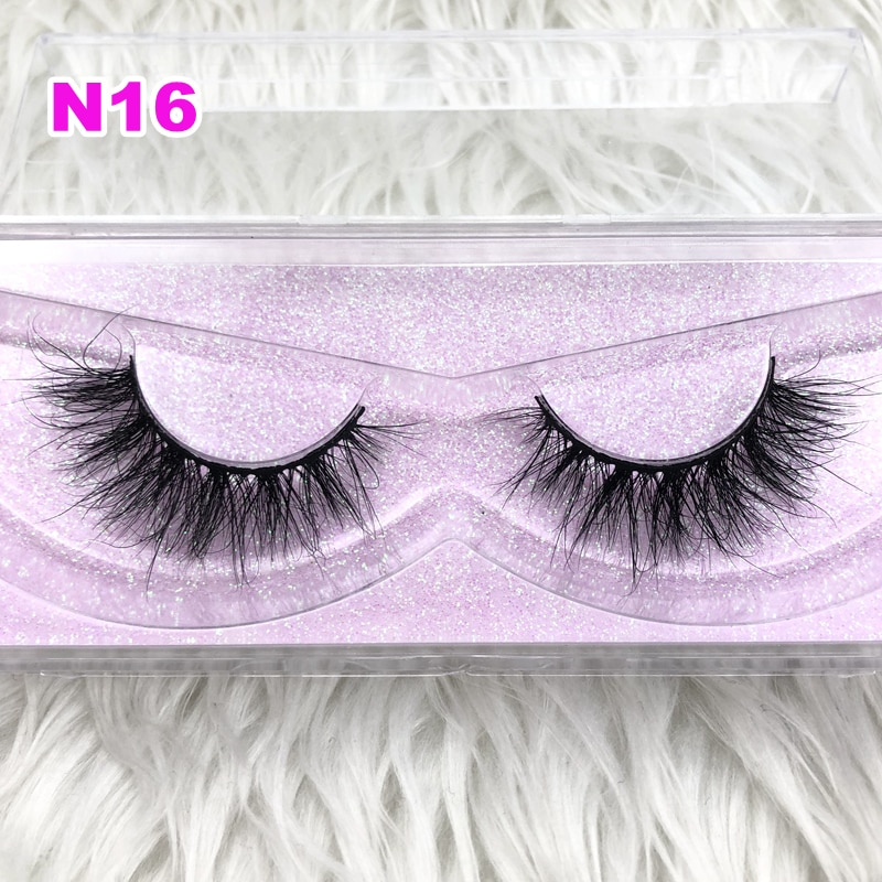 Fashion Style Luxury 100% Real Mink Strip Lashes 3d Miami Natural Long Soft