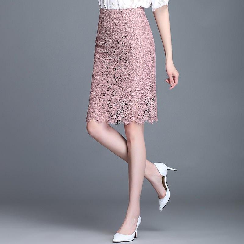 2020 nueva falda de las mujeres del verano coreano sólido Ropa de Trabajo Paquete de cadera lápiz Midi falda Bodycon Femininas
