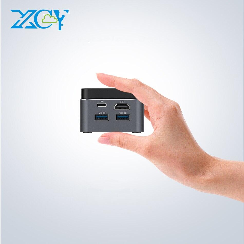 XCY Pocket Mini PC Intel Celeron N4100 Quad-Cores 4GB/8GB LPDDR4 128GB M.2 SSD 2.4/5.0G AC WiFi Bluetooth 4.2 4K 60Hz Windows 10