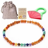 raw ambers teething necklace for babies unisex teething pain relief certified genuine baby baltic ambers necklace jewelry