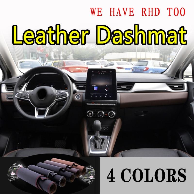 Para RENAULT CAPTUR KAPTUR g2 2020, salpicadero de cuero, cubierta de tablero, alfombrilla de tablero, Alfombra de sombrilla, estilismo para coche, accesorios de coche