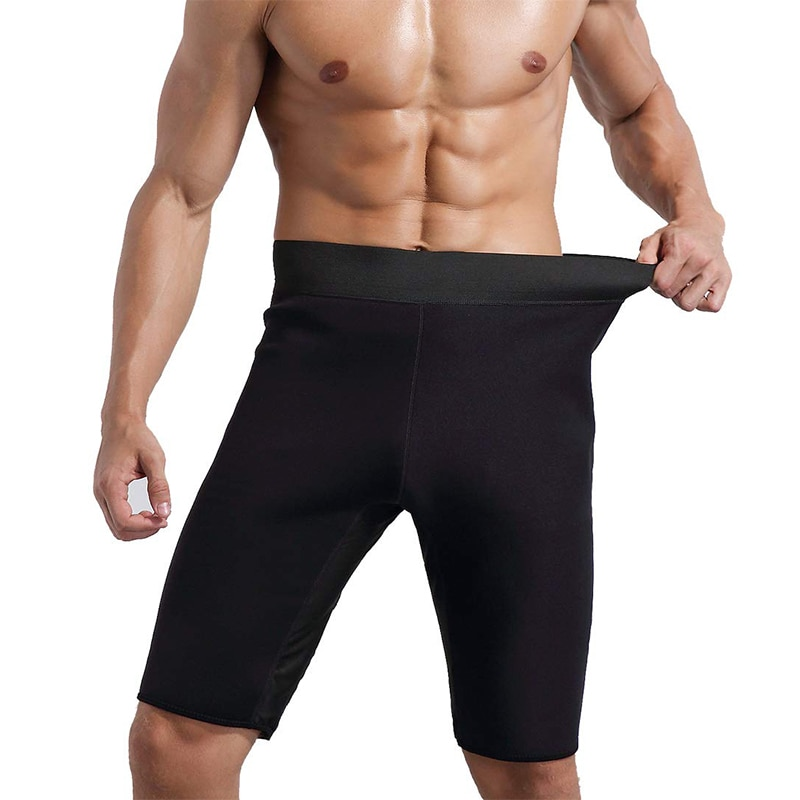 Men Neoprene Slimming Pants for Weight Loss Hot Thermo Sauna Sweat Capri Fitness Workout Body Shaper