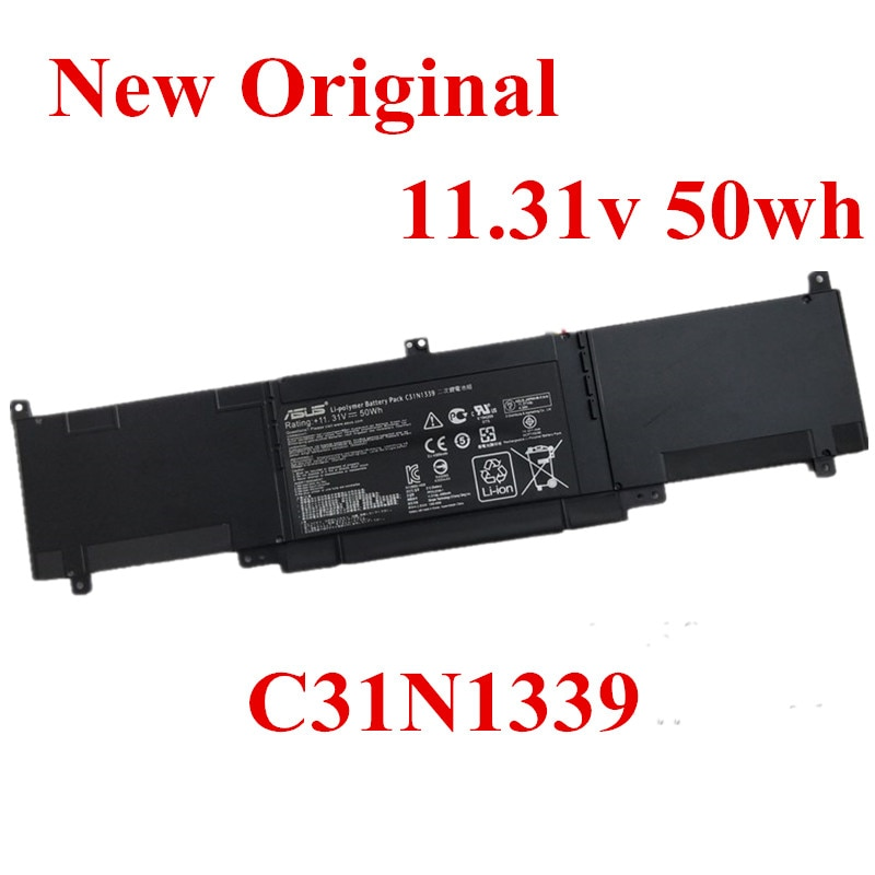 Фото - New Original Laptop replacement Li-ion Battery for Asus U303L UX303 UX303LN UX303L TP300L C31N1339 11.31v 50Wh new original laptop replacement li ion battery for asus x450e a450v k550d x751l a41 x550e 15v 44wh