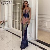 missord sexy off the shoulder sequin party dress female multi bodycon floor length maxi dress women summer dress vestidos m0831