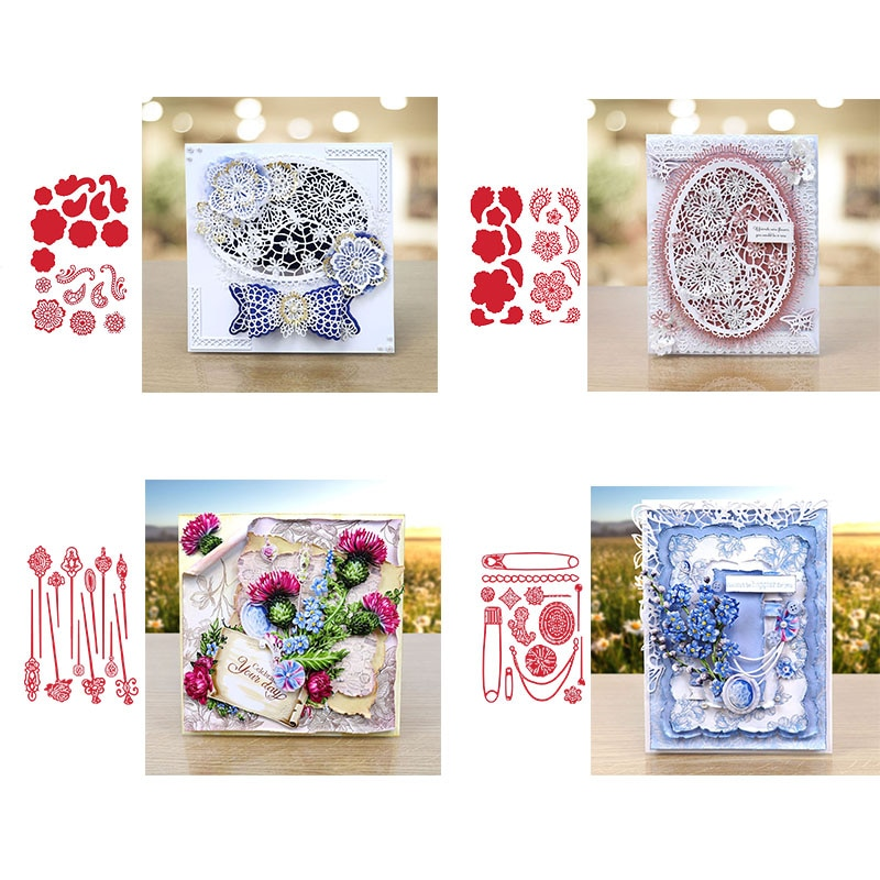Flowers Plants Decoration Frame Metal Cutting Dies For DIY Scrapbooking Paper/photo/Album Cards Decorative Embossing 2019