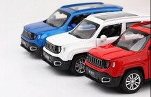 Voitures enfants jouets collection 1/32 Jeep Renegade SUV moulé sous pression modèle voiture avec son et lumière tirer arrière modèle voiture jouet