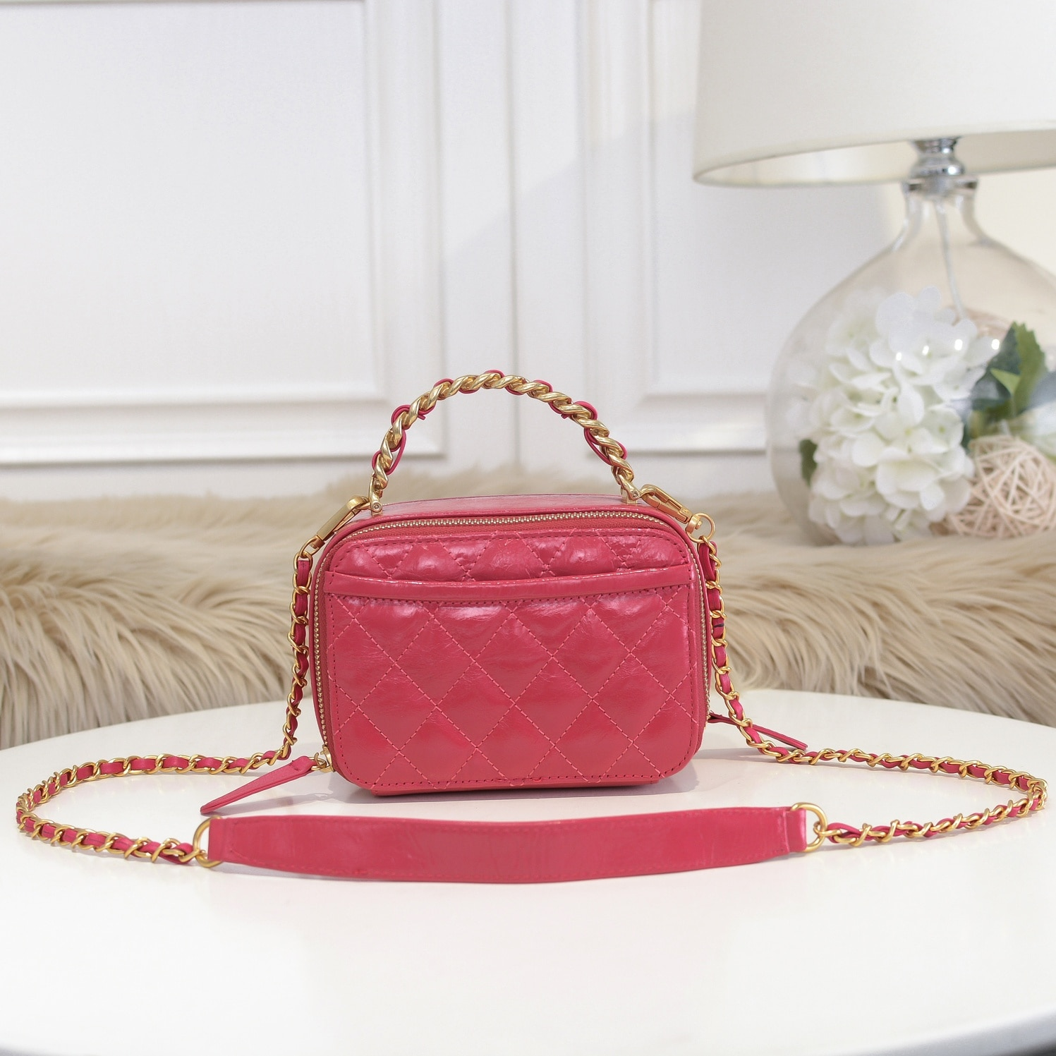 Lingge bag spring and summer handbag 2021 new tide Joker chain bag shoulder messenger bag box square bag