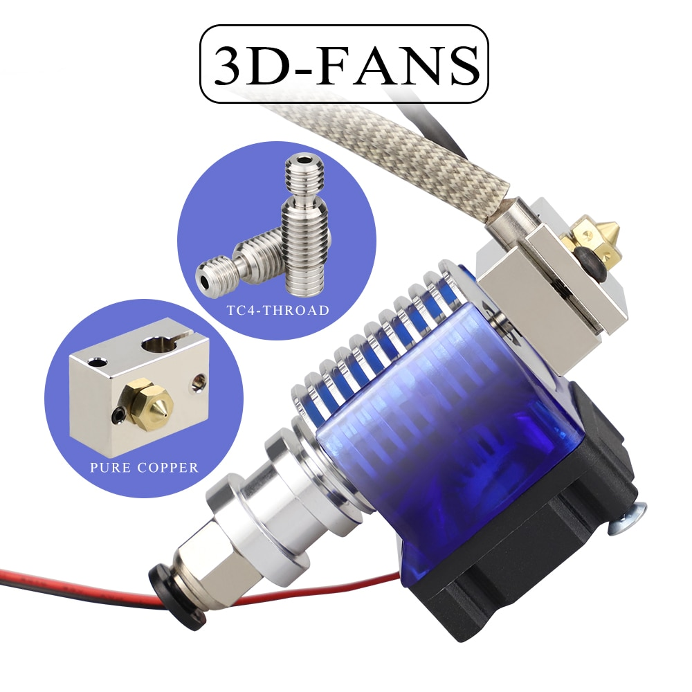 All Metal V6 J Head Hotend Bowden Extruder Kit For E3d V6 Hotend Cooling Fan Bracket Block 3d Printers Parts 3d Printer Parts Accessories Aliexpress