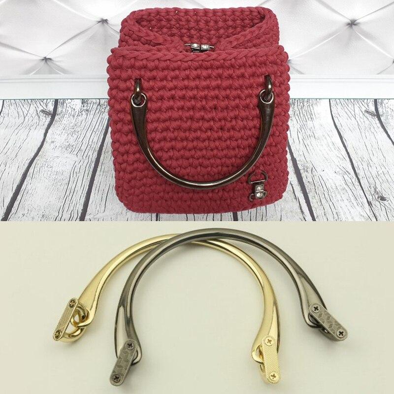 Металлические ручки для сумок, ремешок на плечо с короткой ручкой, Швейные аксессуары для сумок из сплава, запчасти для сумок