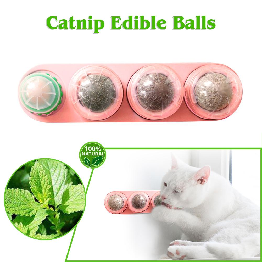 Pet Catnip Toys Edible Catnip Ball Safety Healthy Cat Mint Cats Home Chasing Game Toy Products Clean Teeth Protect The Stomach