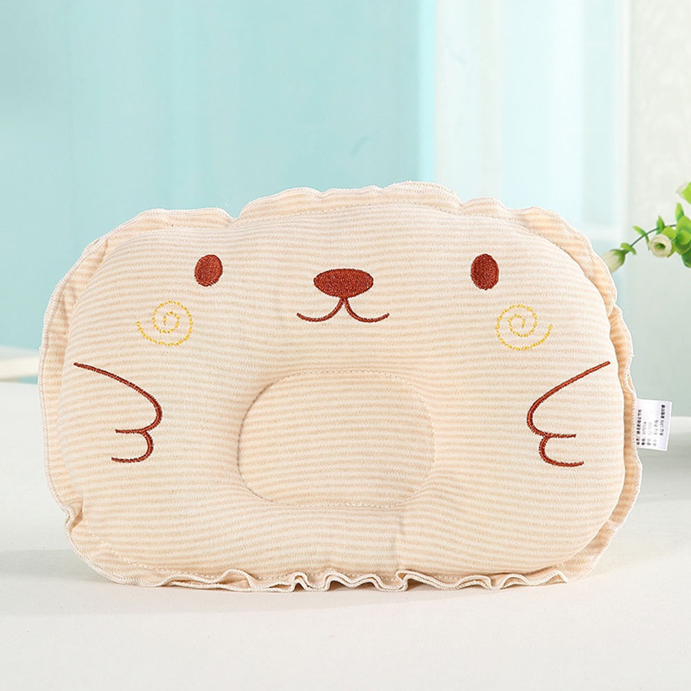 New Fashion Newborn Baby Cotton Pillows Sleep Shape Positioner Anti Roll Cushion Flat Bebes Head Pillow Protection
