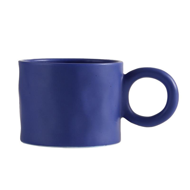 الشمال سبلاش الأزرق اليد قرصة نمط كبير الأذن القدح سعة كبيرة بسيطة فنجان القهوة في الكورية نمط فنجان القهوة