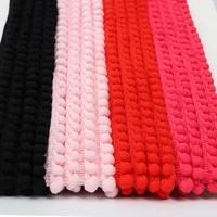 xugar pom pom string cord for diy craft 5yroll solid rope handmade materials kintting gift packaging home textiile accessories