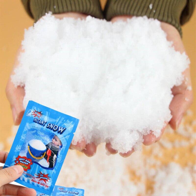2019 zima 1 paczka sztuczny śnieg śnieg Instant w proszku grypa dekoracja biała śnieżka dla dzieci śnieżka walka nowości I