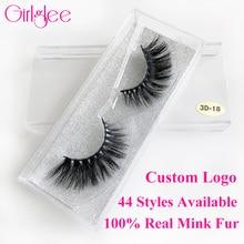 Luxury 3D Mink Eyelashes False Eyelashes 100% Real Mink Fur Eyelash Extension 3D Lashes Cruelty Free