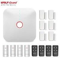 Wolf-Guard     systeme dalarme de securite domestique intelligent  wi-fi 2 4G  anti-cambriolage  capteur de mouvement PIR  controle par application