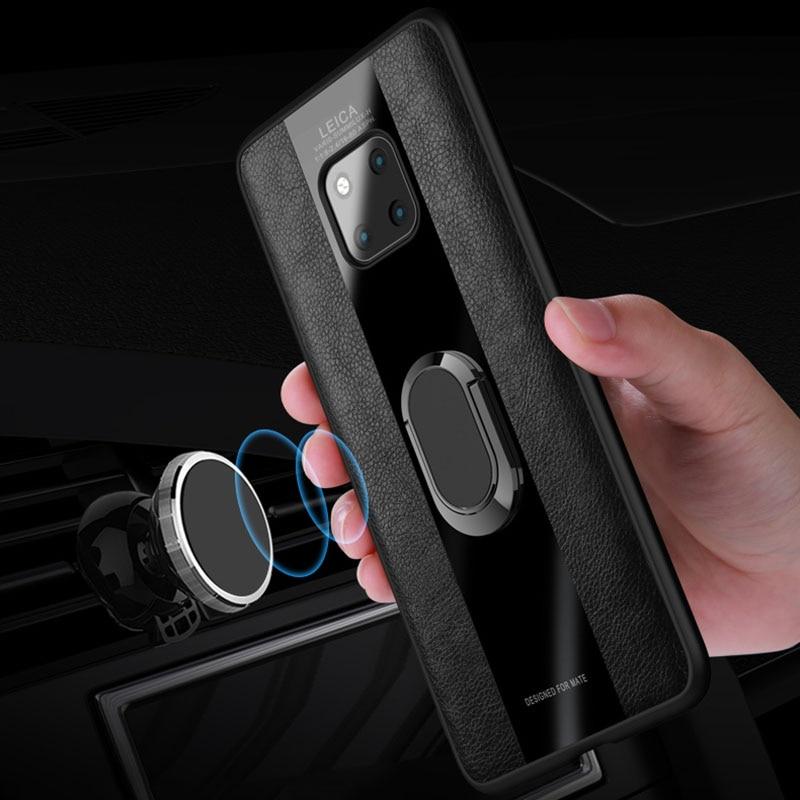 Magnético dedo anillo soporte caso de Huawei Mate 9 10 20 30 Pro 20X P10 P20 Lite P30 Nova 3 3i Honor 8X 8C V10 V20 cubierta