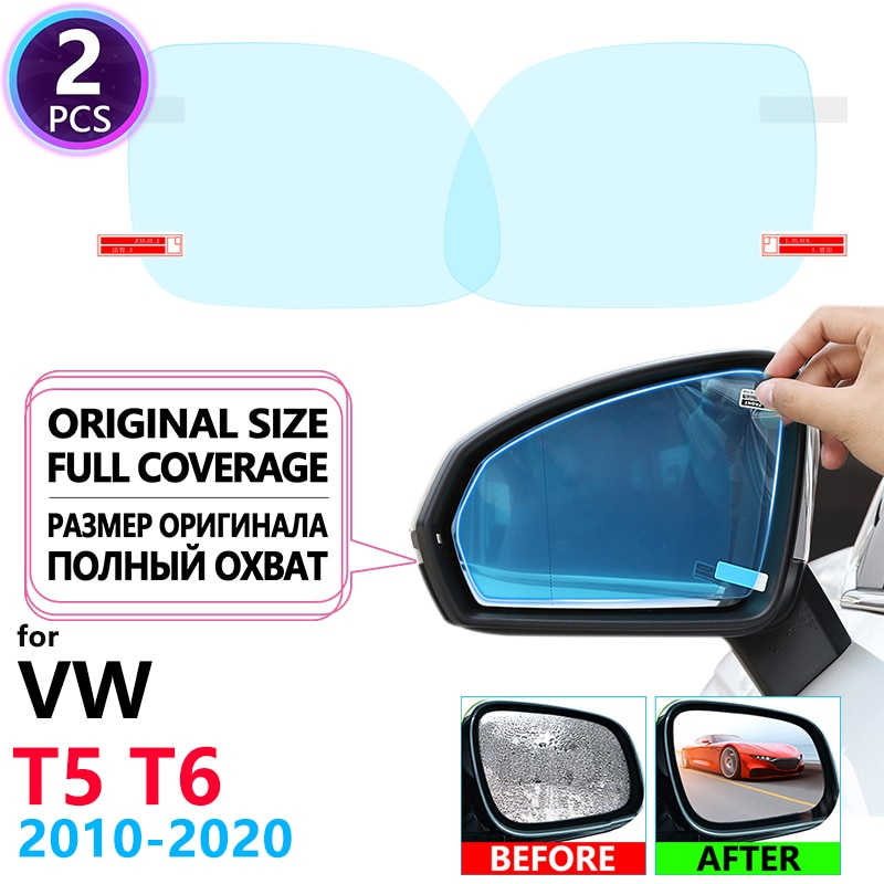 Full Cover Anti Fog Film Rearview Mirror for VW T5 T6 2010~2020 Volkswagen Transporter Multivan Accessories Car Clear Films