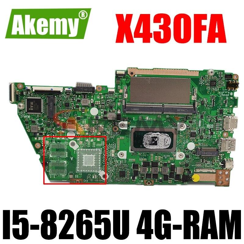 X430FA اللوحة ل ASUS X430FA X430F A430F S4300F اللوحة المحمول اللوحة 4G-RAM I5-8265U GM