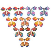 10pcs Die Magie Schmetterling Fliegen Schmetterling Mit Karte Spielzeug Mit Leere Hände Solar Schmetterling Hochzeit Magie Requisiten Zaubertricks