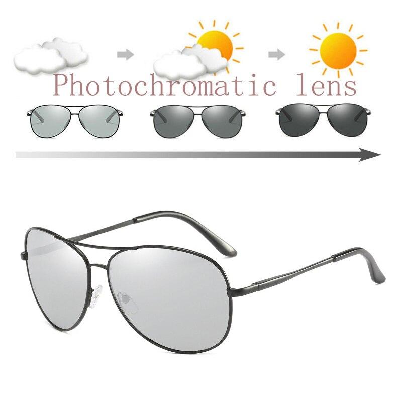 Gafas de sol polarizadas fotocrómicas para hombre gafas de sol para conducir Vintage para mujer gafas de sol para pesca para deportes al aire libre gafas piloto UV400